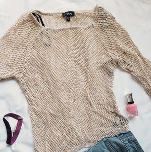 bebe Tops - Bebe gold knit top